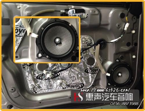 在喇叭接线的时候,接口进行焊锡处理
